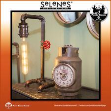 SELENES | Orologio da tavolo industrial in metallo