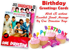Official One Direction Birthday Card with w/o Sound Message for Relative, Friend