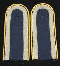 PAIR OF GERMAN SHOULDER BOARDS WITH YELLOW PIPPING ON EDGE