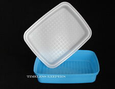 FREE SHIP Tupperware SEASON SERVE JR MARINADE Chicken Fish Beef Veggie New Blue