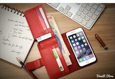 Diseño De Lujo Monedero Para Apple iPhone 6 Funda Estuche - Rojo (4PRO)
