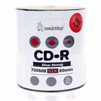 Smartbuy CD-R 52X 700MB/80Min Shiny Silver (Non-Printable) Blank Recordable Disc