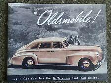1940 OLDSMOBILE SALES  BROCHURE  '' RHD AUSTRALIAN VERSION''  SUPER RARE!