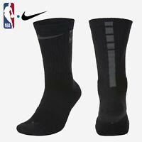 NBA Nike Elite Cushioned Crew Black Anthracite Basketball Socks $18 SK0091-010