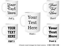 Custom Text on Mugs Personalized Ceramic Coffee Mugs Customized Gift Your Text