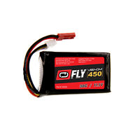 Venom Fly 30C 3S 450mAh 11.1V LiPo Battery with JST Plug for RC Planes and Helis