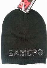SONS OF ANARCHY SAMCRO TATTOO SKATER PUNK BLACK BEANIE W/ NAILHEAD SOA BIKER HAT