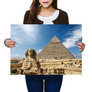 A2 | Ancient Sphinx Pyramid Giza Egypt Size A2 Poster Print Photo Art Gift #8230