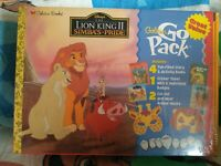 THE LION KING 2 SIMBA'S PRIDE GOLDEN BOOKS GO PACK ACTIVITY SET