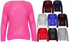 Langarm Damen-Pullover mit grober Strickart