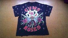 Rare Vintage 1991 GUNS N' ROSES - All Over Print Tour promo T-Shirt - Size L
