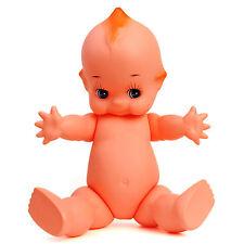 "Antique Big Head Vinyl Baby Dolls Kewpie Angel Wings Large Composition Tall 24"""