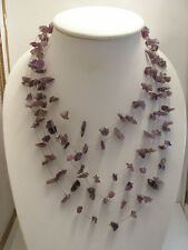 Amethyst Six String Necklace