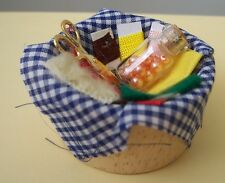 Doll House Lg Sewing Basket w Accessories!-New!1:12th