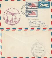 US 1959 TWA FAM 27 FIRST FLIGHT FLOWN COVER NEW YORK NY TO LONDON ENGLAND (a)