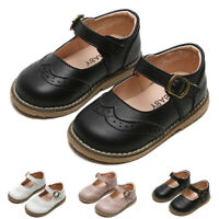 Toddler Infant Kids Baby Girls Boys Leather British Party Student Shoes Sandals