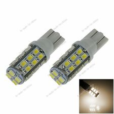 2X Car Warm White 28 LED 1206 SMD T10 W5W Wedge Side Light Bulb Lamp DC 12V A048