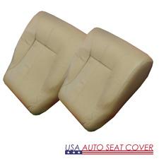 98-02 Dodge Ram Laramie Standard Driver Passenger Bottom Leather Seat cover TAN
