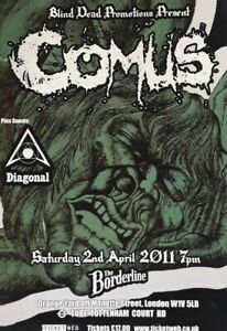 Comus Concert Flyer.Borderline London Saturday 2Nd April 2011.Acid/Psych Folk
