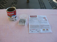 Campbell's Soup Crossword Alphabet Dice Game - New