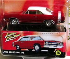 JOHNNY LIGHTNING 69 1969 DODGE DART GTS 60s SIZZLE COLLECTIBLE CAR W/BOX W/RRs