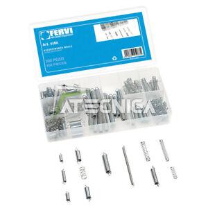 Assortimento kit 200 molle FERVI 0180 in organizer di plastica