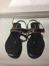 Coach Womens Sandals Brown & Black Size 8.5 New With Out Box