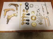 3 Sherle Wagner Faucets Gold Brass, Handles Onyx Crystal + More