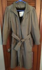 London Fog Maincoats Vintage Trench Coat W/ Liner Womens Taupe Beige Size 10 Reg