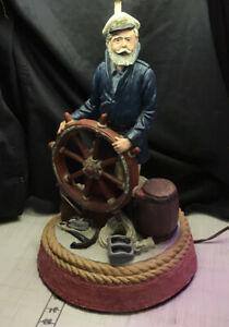 Vintage Apsit Bros of Calif? Nautical Ship Captain Lamp-Sailor-Captain-WORKS