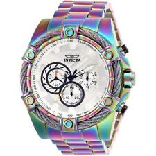 Invicta БОЛТ 25520 мужские круглый белый хронограф термообработке аналоговые часы