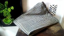 Vintage Wool Blend Plaid Checkered Houndstooth Large Fabric Remnant Project