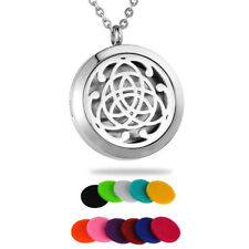 Stainless Steel Aromatherapy Essential Oil Diffuser Celtic Style Locket Necklace