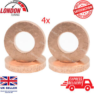 For Renault 1.5/1.9/2.2/2.5 Diesel Injector Seal Washers 4X 7703062072