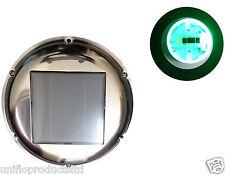 STAINLESS STEEL SOLAR FAN LED GREEN LIGHT HOME,MARINE,BOAT,MOTORHOME & CARAVAN