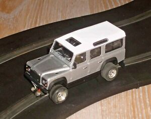 Scalextric conversion Land Rover Defender off road car - superb - fun and fast