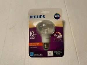 Philips 10W LED Dimmable CLEAR GLOBE G25, Light Bulb, Soft White,WARM GLOW