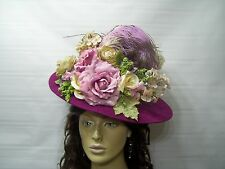 Victorian Ladies Hat, Civil War Reenactment, Edwardian Hat, Tea Hat, Wedding Hat