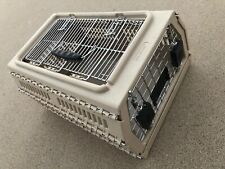 """Nylabone Collapsible Small Pet Crate Tan Metal Kennel Carrier 17"""" x 12"""" x 8.75"""""""