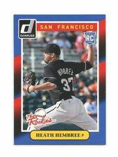 2014 Donruss The Rookies #39 Heath Hembree San Francisco Giants rookie card