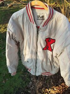 Vintage Cuban X Giants Jacket African American Negro League Cotton Blend XL