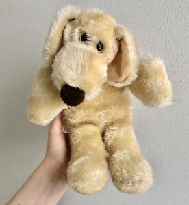 "Vintage 1980 Francesca Hoerlein Le Mutt 14"" Stuffed Plush Tan Puppy Dog NICE"