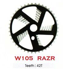 """W105 BMX """"RAZR""""  42 TOOTH BMX FRONT CHAINWHEEL / CHAINRING, for 1/2"""" chain"""