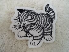 "KITTEN 4"" Embroidery Iron-on Patch (E27)"
