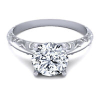 Real Round Cut 0.60 Ct Diamond Wedding Rings 14K Solid White Gold Size 5 6 7