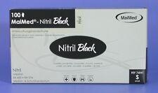 100 Nitrilhandschuhe Maimed Black Nitril Puderfrei Gr.s Einweghandschuhe schwarz