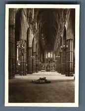 Yvon, UK, Unknown Warrior's Grave, Westminster Abbey  Vintage silver print.