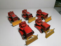 Vintage Matchbox Lesney Moko No.16 D Case Bulldozer x 5 (2)