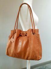 GIGI Tan Genuine Soft Leather  Slouchy Tote Shoulder Hobo Bag