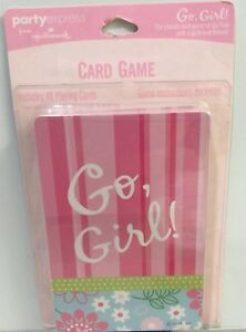 Go Fish Card Game - Go Girl Themed Playing Cards Party Indoor Games